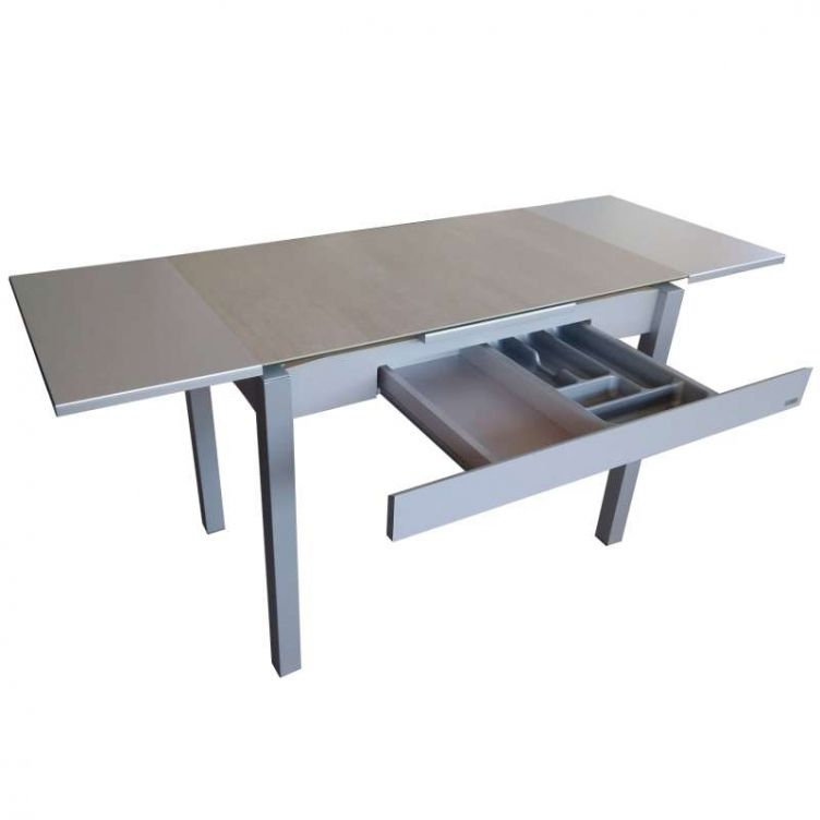 Table Cuisine Extensible Amazing Table Carree Blanc Laque Amazing