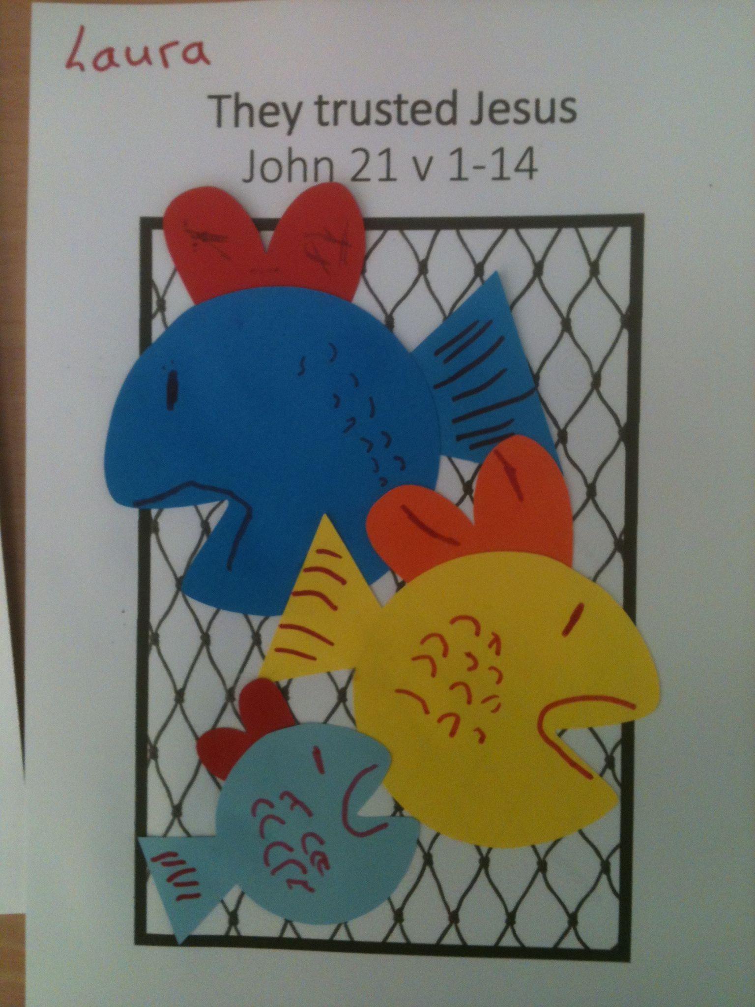 fish craft john 21 v 1 14 sunday ideas pinterest