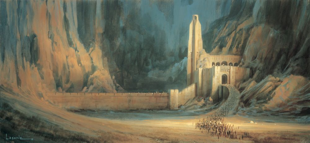 Lord of the Rings | Helms Deep by Paul Lasaine ~ { concept art }