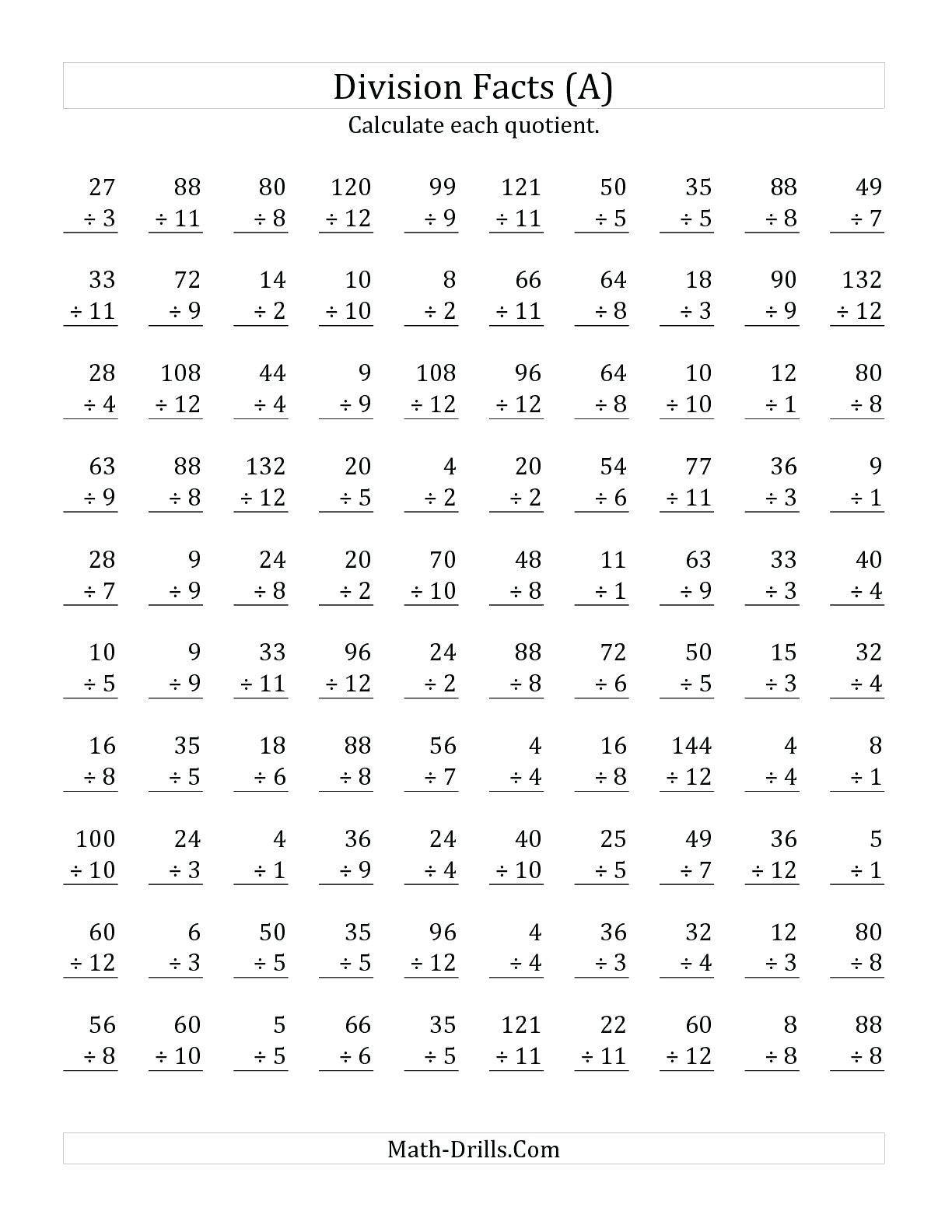 5th Grade Division Worksheet Division Worksheets In