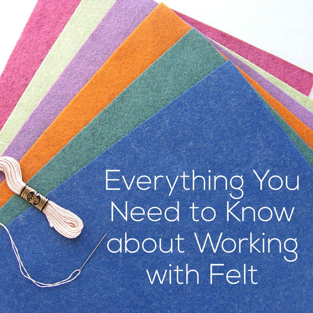 Everything You Need to Know about Working with Felt | Shiny Happy World #felttoys