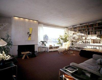 Gropius House living room gropius house lincoln mass inhabit