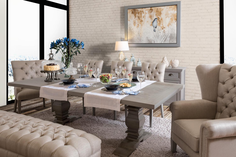 Comedor vintage mesa industrial silla sin brazo 53138 - Decoracion interiores salones ...