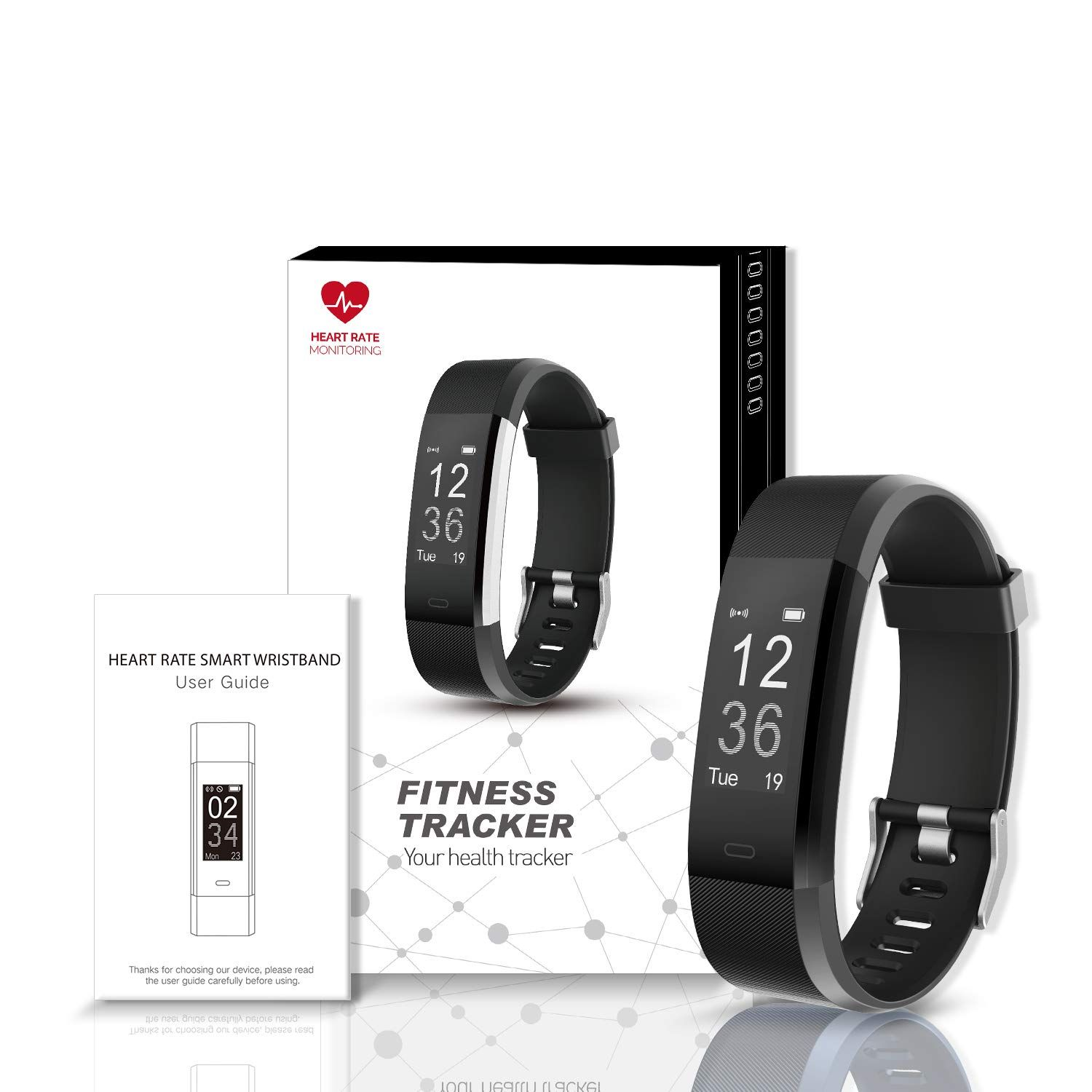 8595237b48a Arbily Fitness Tracker Activity Tracker Watch with Heart Rate Monitor  Waterproof Smart Wristband with Pedometer Calorie