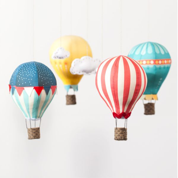 Create a whimsical Hot Air Balloon mobile complete with little ...