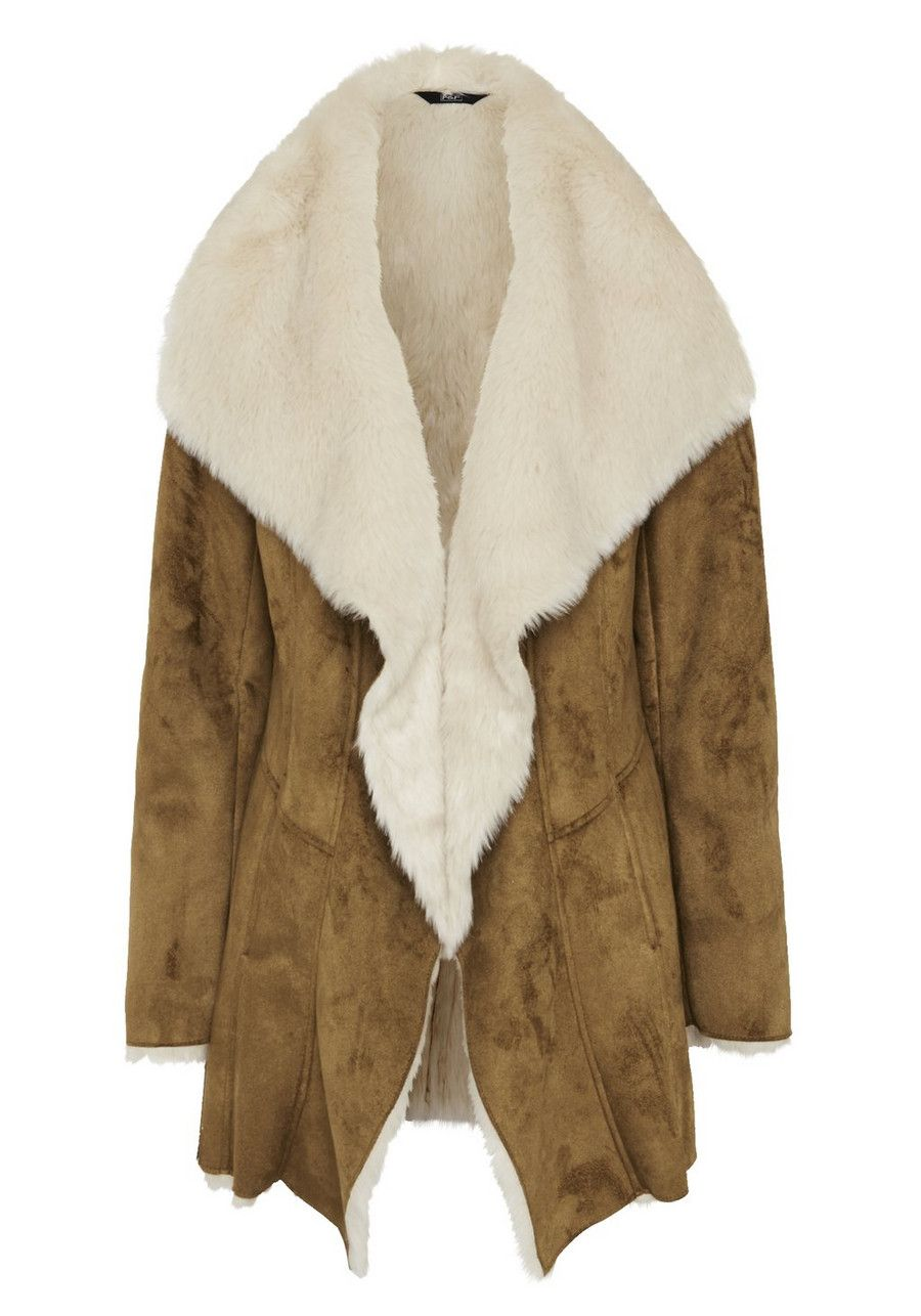 F&F Faux Shearling Waterfall Coat | Women's Coats & Jackets | F&F ...