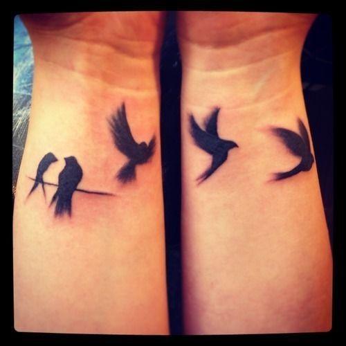 Small Inner Wrist Tattoos Birds: 40 Small Bird Tattoo Design Ideas // March, 2020