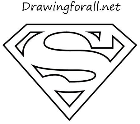 How To Draw The Superman Logo Superman Coloring Pages Superhero