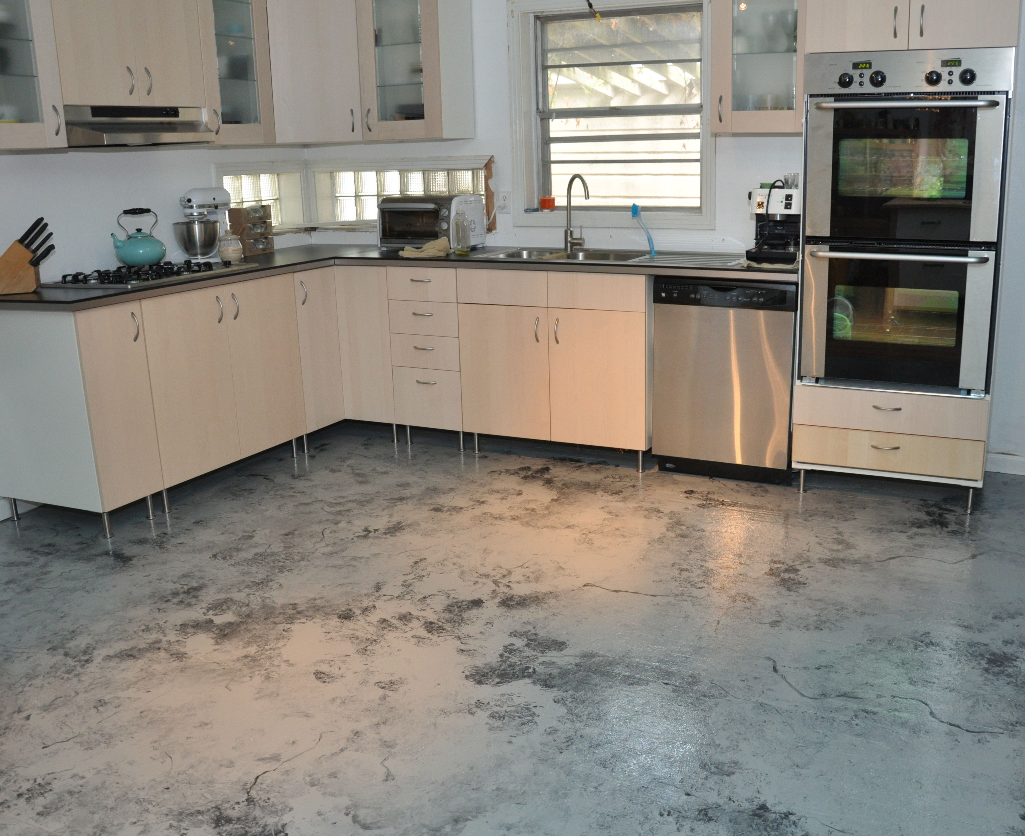 Impressive Kitchen Floor Paint Ideas With Contemporary Painted Kitchen Floors Inspiration Hom Kitchen Floor Inspiration Kitchen Flooring Painted Kitchen Floors