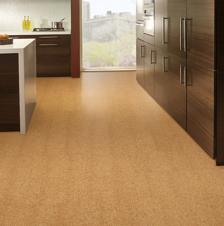 Aronson S Floor Covering Residential Kitchen Installation Cork Flooring Kitchen Installation Cork Flooring Floor Coverings