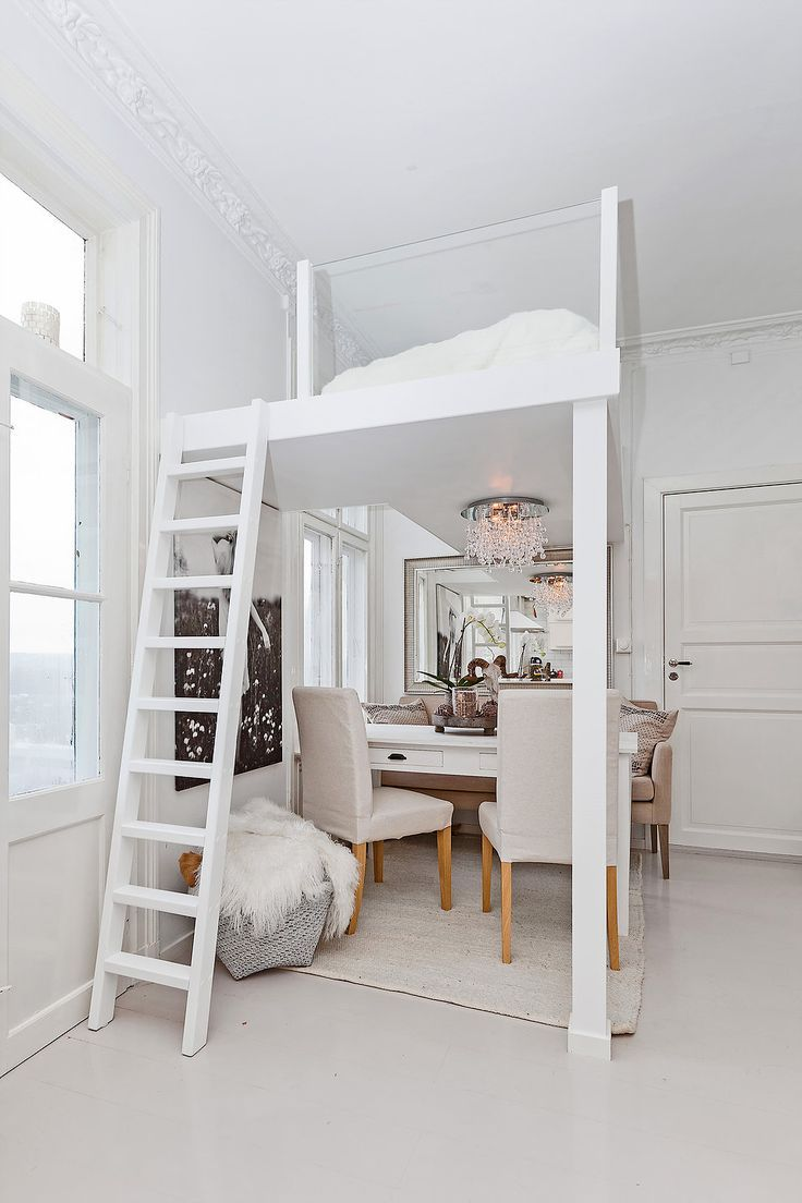 This loft bed with glass railings lets the light through | Glass ...