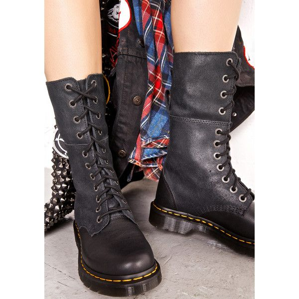 amazing price 100% top quality lowest discount Dr. Martens Hazil Tall Slouch Boots ($109) ❤ liked on ...