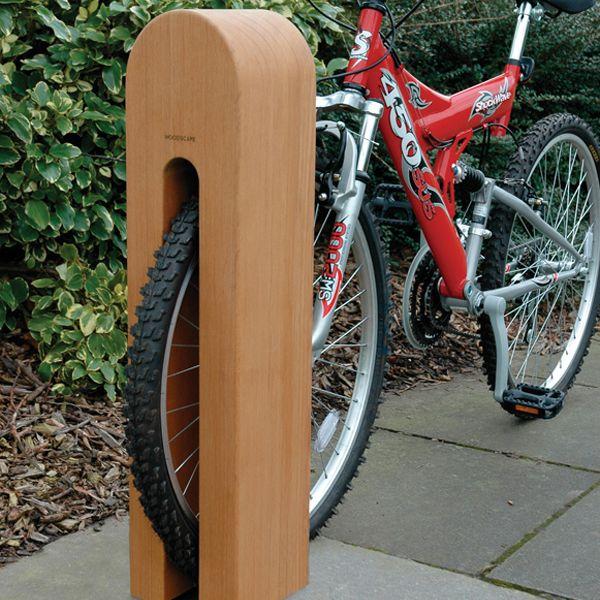 Square, hardwood, cycle, bollard, timber, bike, Woodscape
