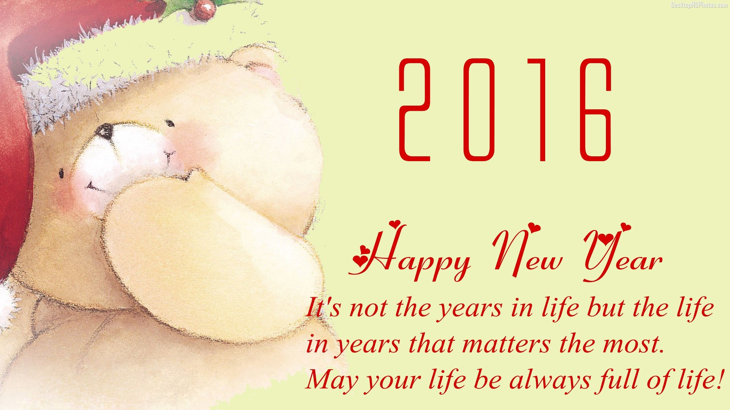Medium Of Happy New Year 2016 Message