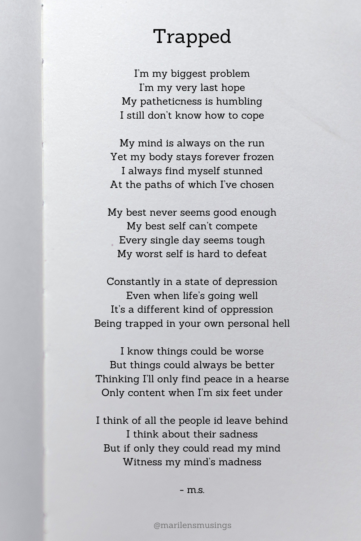 Sad rhyming poems