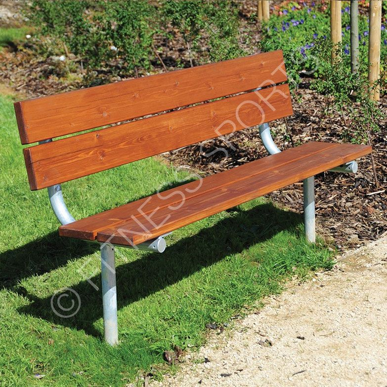 Budget priced standard outdoor wooden seating bench