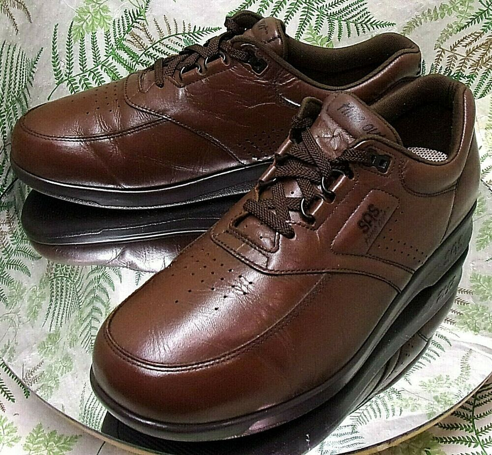 SAS TIME OUT BROWN LEATHER OXFORDS SNEAKERS DRESS WORK