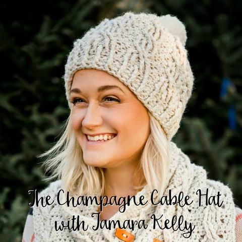 December CAL The Champagne Cables Hat Week Two | Gorros