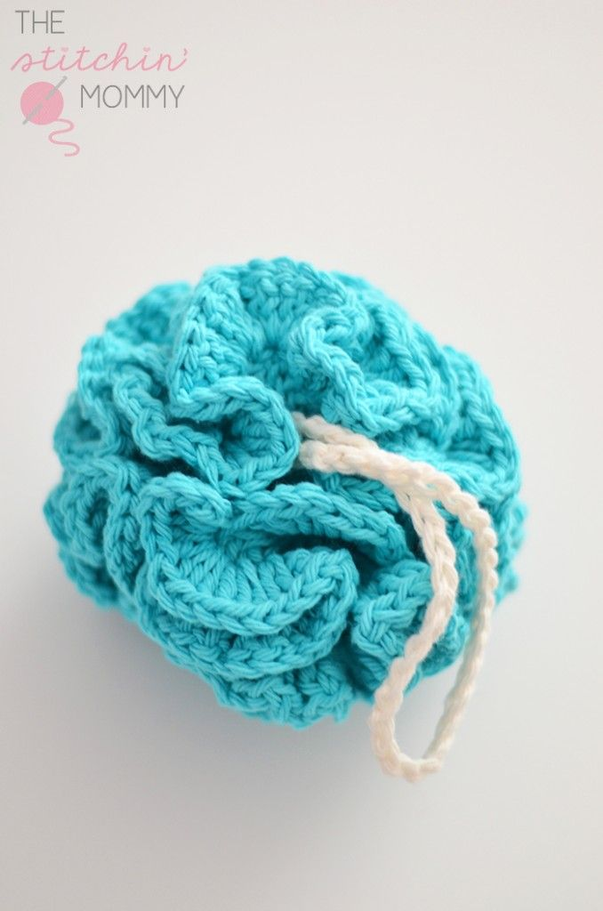 Puffy Bath Pouf - Free Pattern | Tejido, Puntos crochet y Hilo