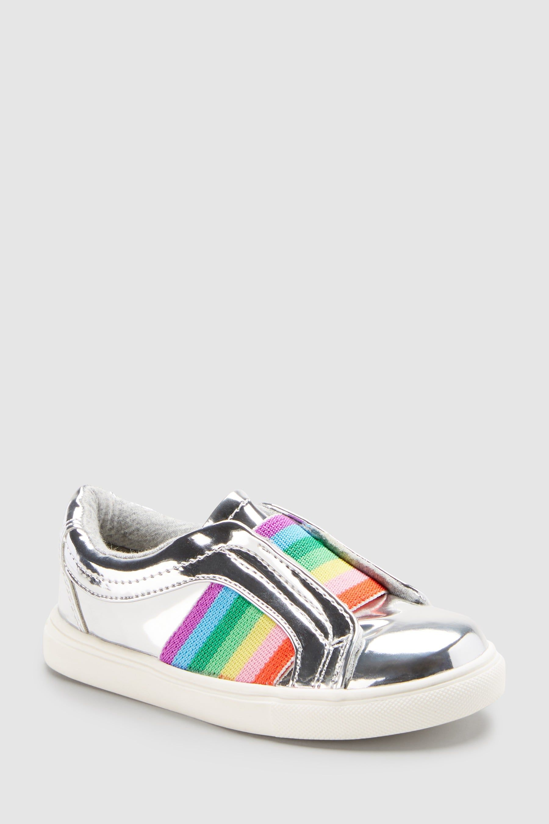 2c0f4b03d3d2 Buy Silver Rainbow Skate Shoes (Younger) from Next Australia