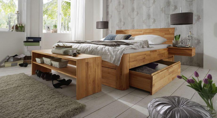 Massivholz Doppelbett Mit Bettkasten Zarbo Haus Deko Schlafzimmer Massivholz Schlafzimmer Design