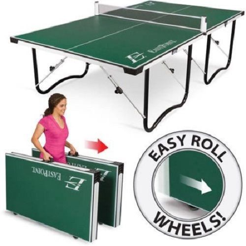 Indoor Outdoor Folding Compact Ping Pong Storage Game Room Arcade Tennis  Table