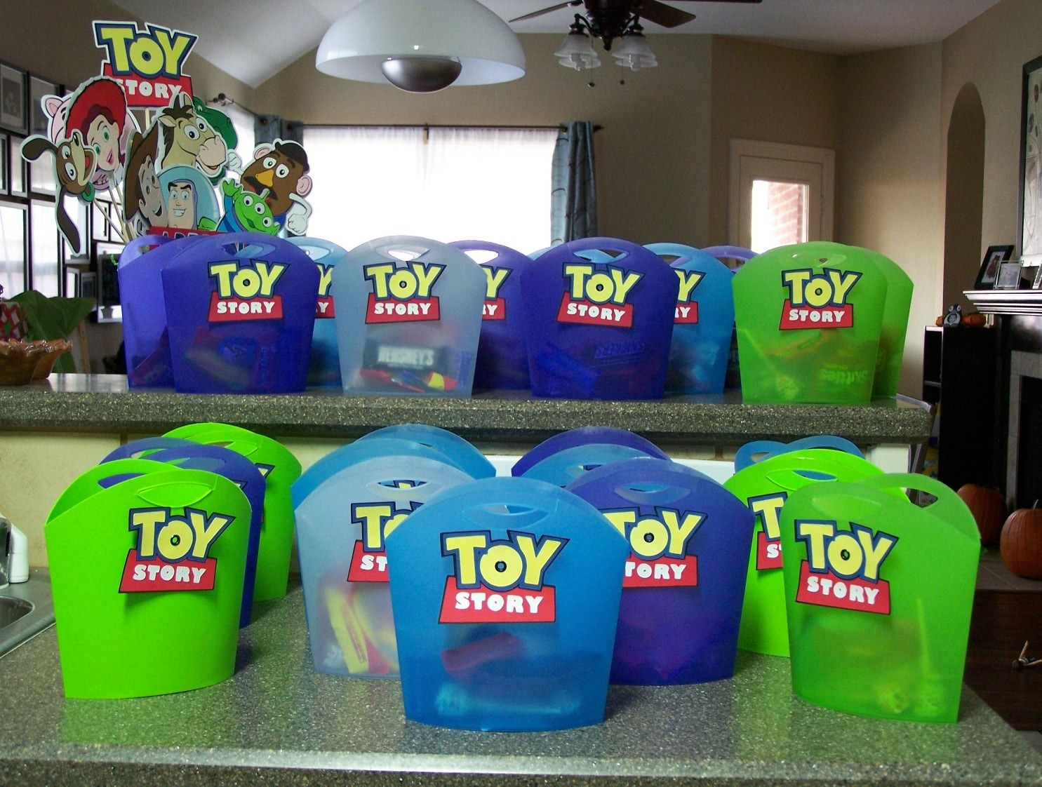 Toy story party ideas birthday in a box - Toy Story Birthday Party Leirads Card Making Corner Toy Story Party Favors