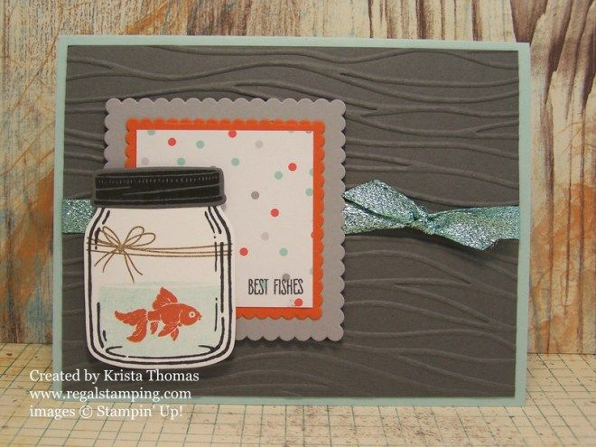 Jar of Love, Everyday Jars Framelits, Seaside Textured Embossing Folder---Krista Thomas, www.regalstamping.com, all products Stampin' Up!