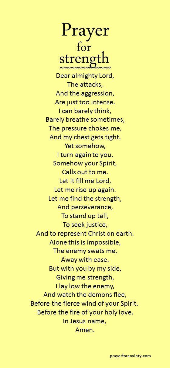 Prayer for strength   PRAYERS   Prayers for strength, Faith prayer
