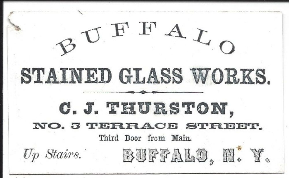 Coated stock business card buffalo stained glass works c1860 coated stock business card buffalo stained glass works c1860 reheart Gallery