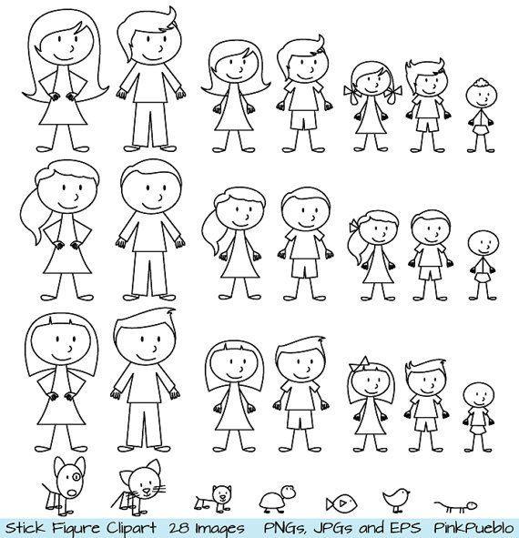 Zeichnen Lernen Strichmännchen Clipart Clip Art Stick Menschen