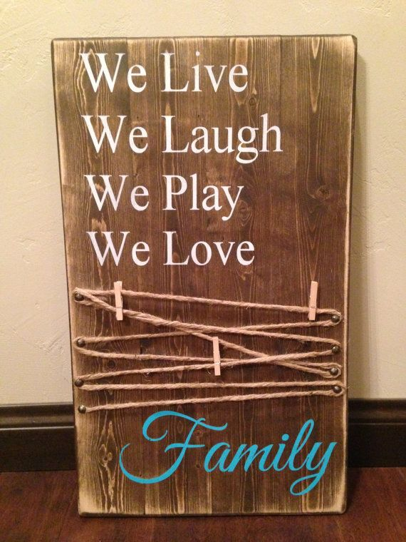 Picture Holder Wood Sign Mom Rustic Wood Sign Mother S