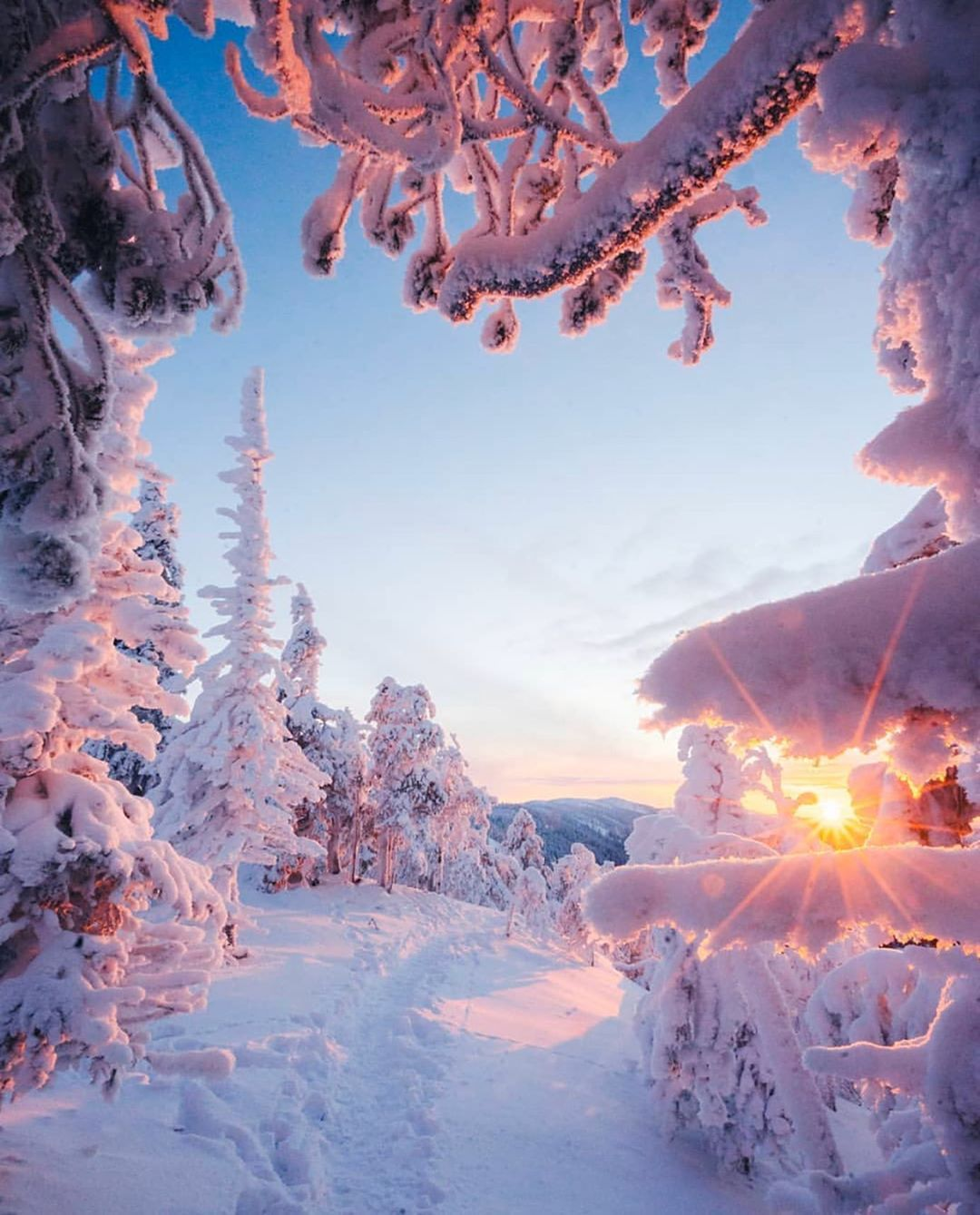 Dreamin Earth On Instagram Snowy Landscapes In Finland Photo Credit Niiloi Christma Winter Sunrise Landscape Photography Winter Landscape