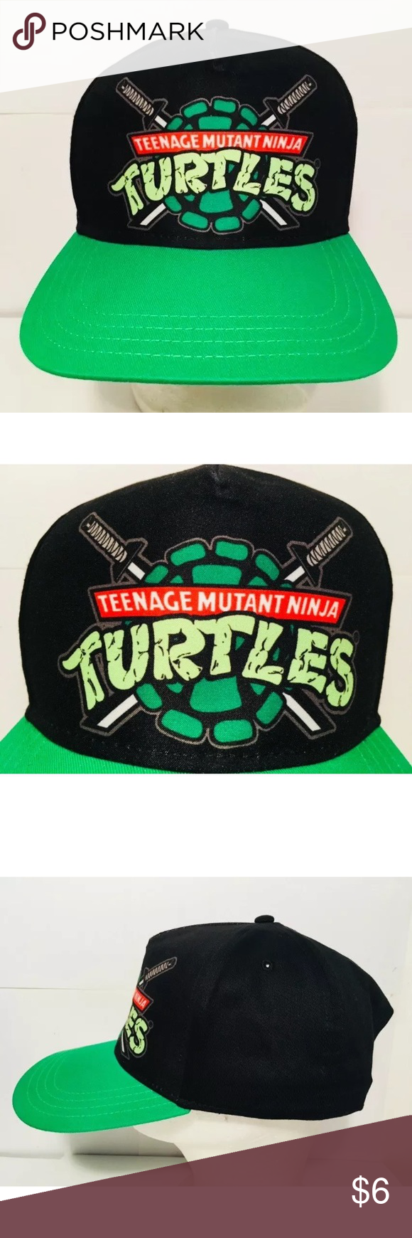 1464833e720 Teenage Mutant Ninja Turtles hat TMNT Youth Green • Excellent condition  Nickelodeon Ninja Turtles snapback hat. • Kids  size. • Made in 2016.