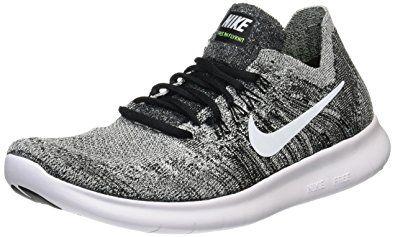 Black  Nike Mens Free RN Flyknit 2017 Running Shoe BLACKWHITE VOLT 100