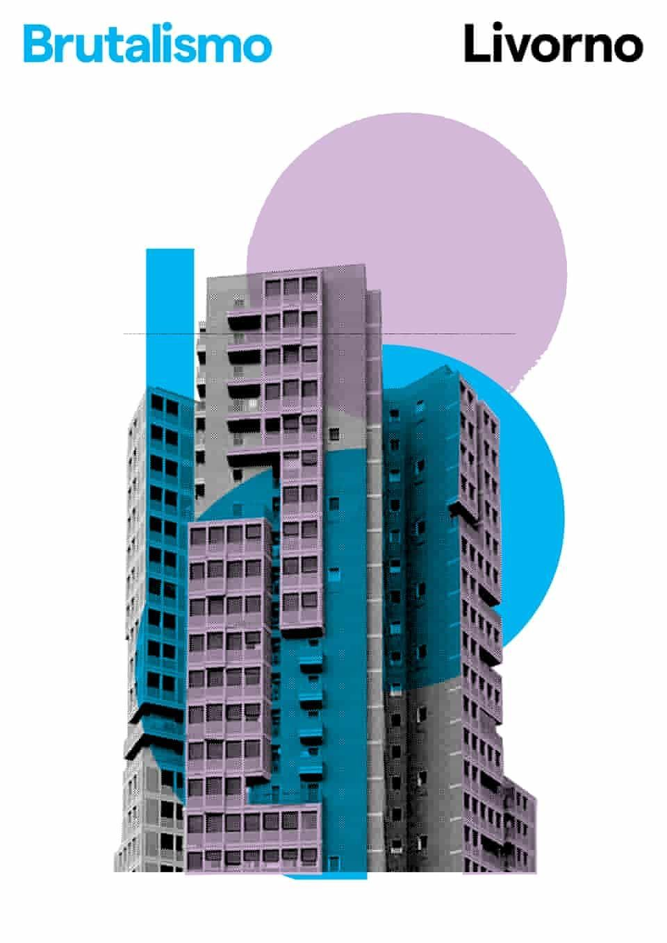 Graphic Brutality Posters Of Italian Brutalist Architecture In Pictures Architecture Brutaliste Architecture Affiche D Architecture