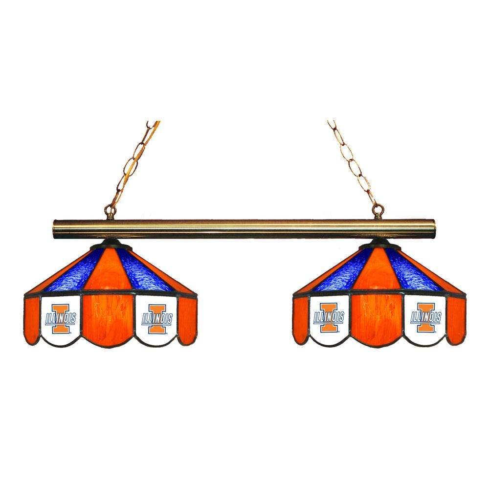 2 pendant illinois fighting illini chandelier w tiffany lampshades 2 pendant illinois fighting illini chandelier w tiffany lampshades aloadofball Image collections