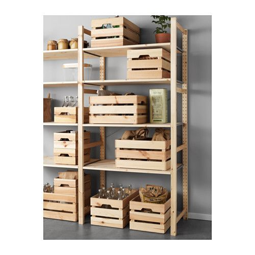 KNAGGLIG Box, pine Box, Apartments and Pantry - outdoor küche ikea