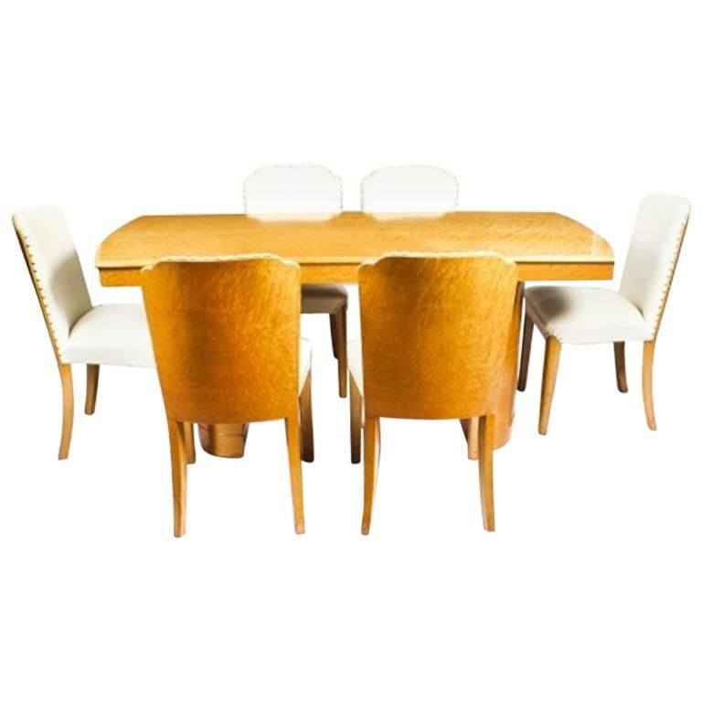 Fabulous 1Stdibs Dining Room Set 1930S Bird Eye Maple Dining Six Ocoug Best Dining Table And Chair Ideas Images Ocougorg
