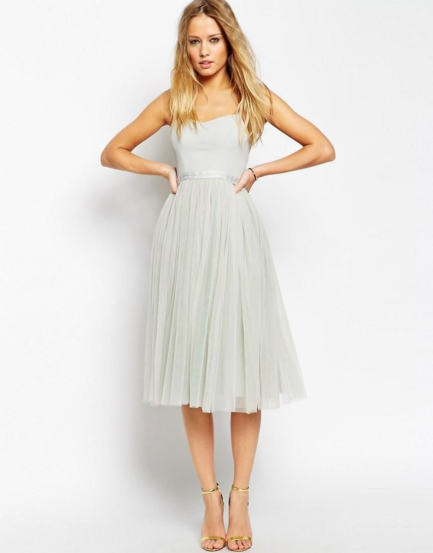 Asos wedding guest dress midi  Needle u Thread  Needle u Thread Giselle Ballet Midi Dress at ASOS