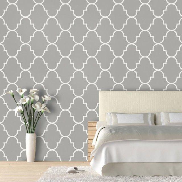 Marokkanische Deko Selber Machen   Grau Weiß Muster