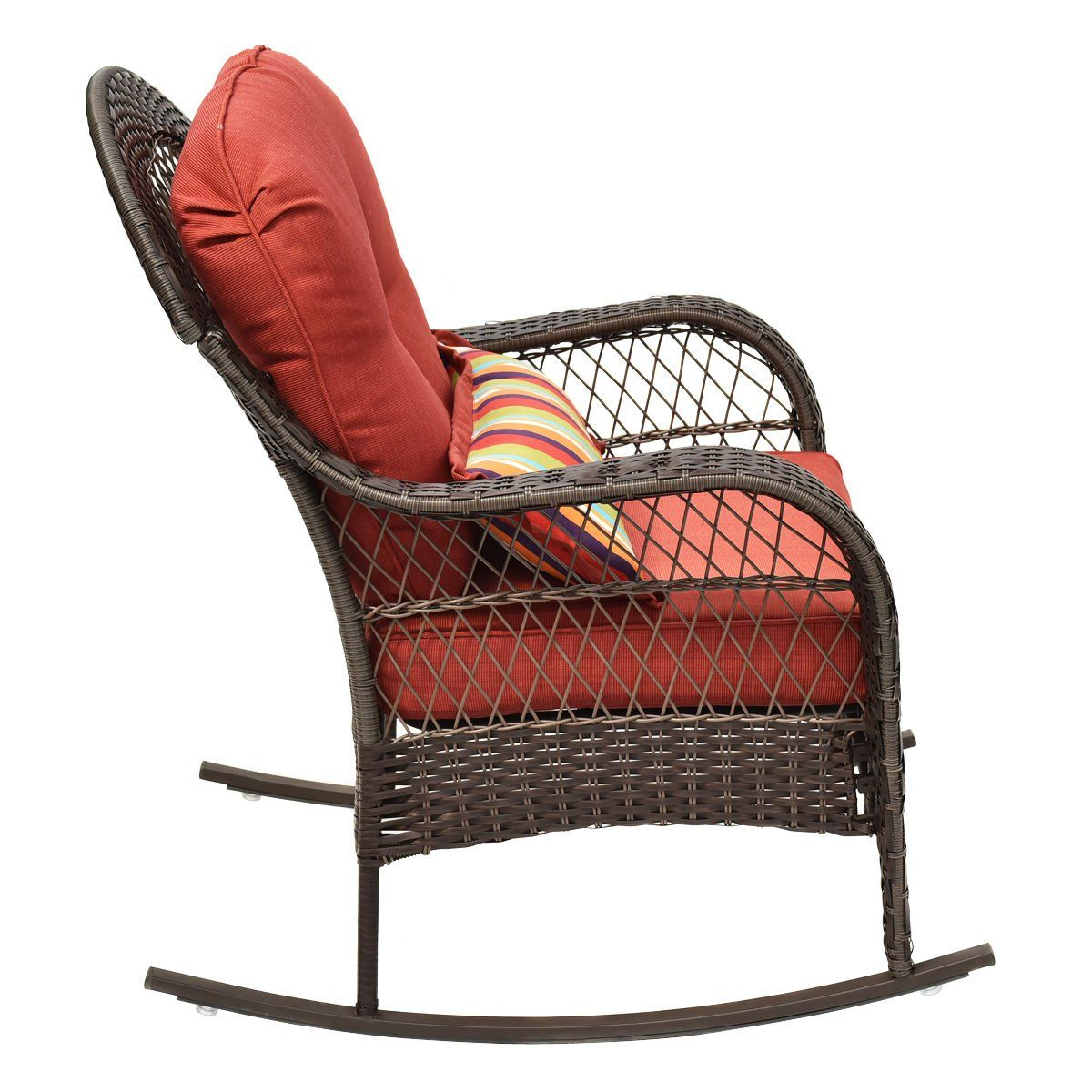colibroxoutdoor wicker rocking chair porch deck rocker patio rh pinterest com