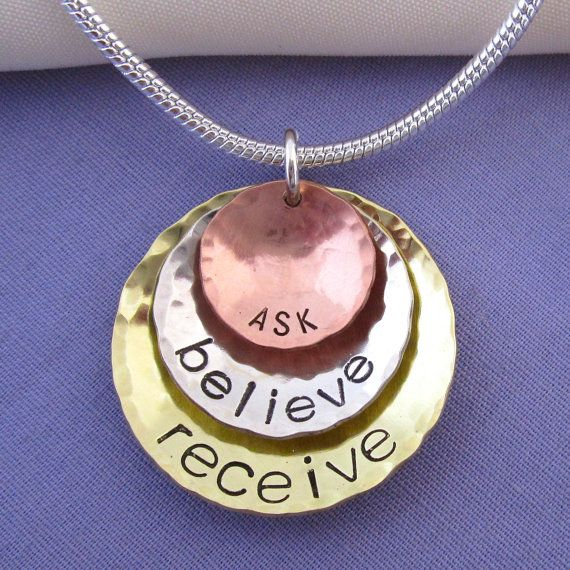 Custom listing for nikkoth - Law of Attraction Necklace - Inspirational Ask Believe Receive