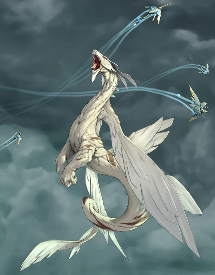 white dragon attacked by aircrafts mythology pinterest