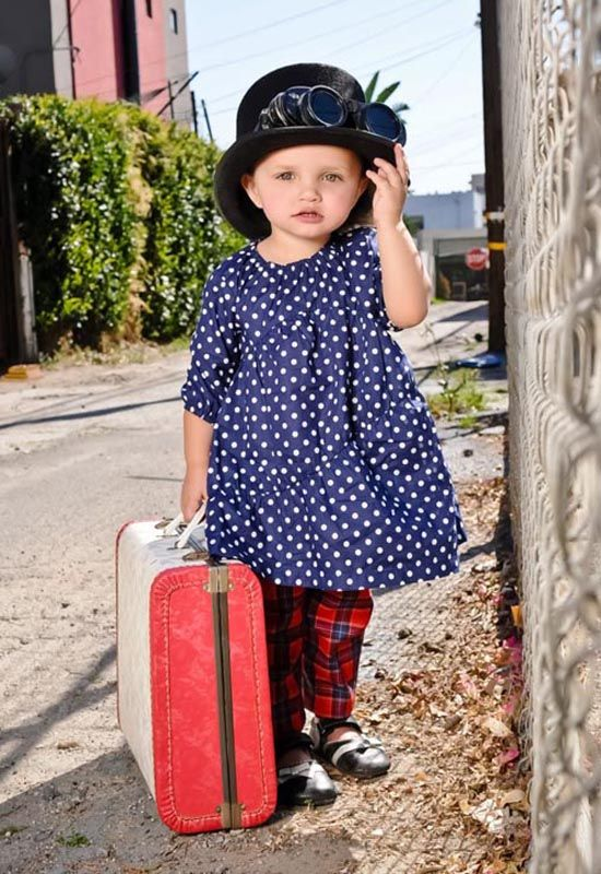 She will grow up to be a globetrotter.