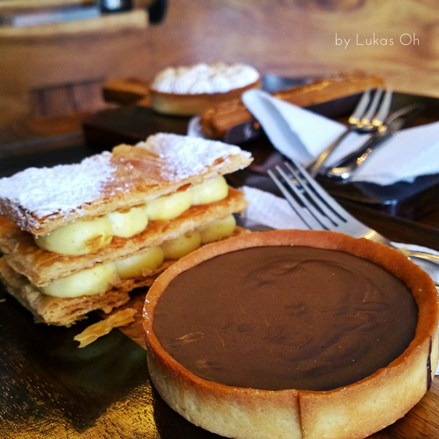 amazing Chocolate Tart (and Mille Feuille)