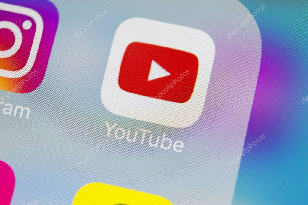 Sankt Petersburg Russia March 2018 Youtube Application Icon Apple Iphone X2014 Affiliate March Russia S In 2020 Application Icon Social Media Icons App Icon
