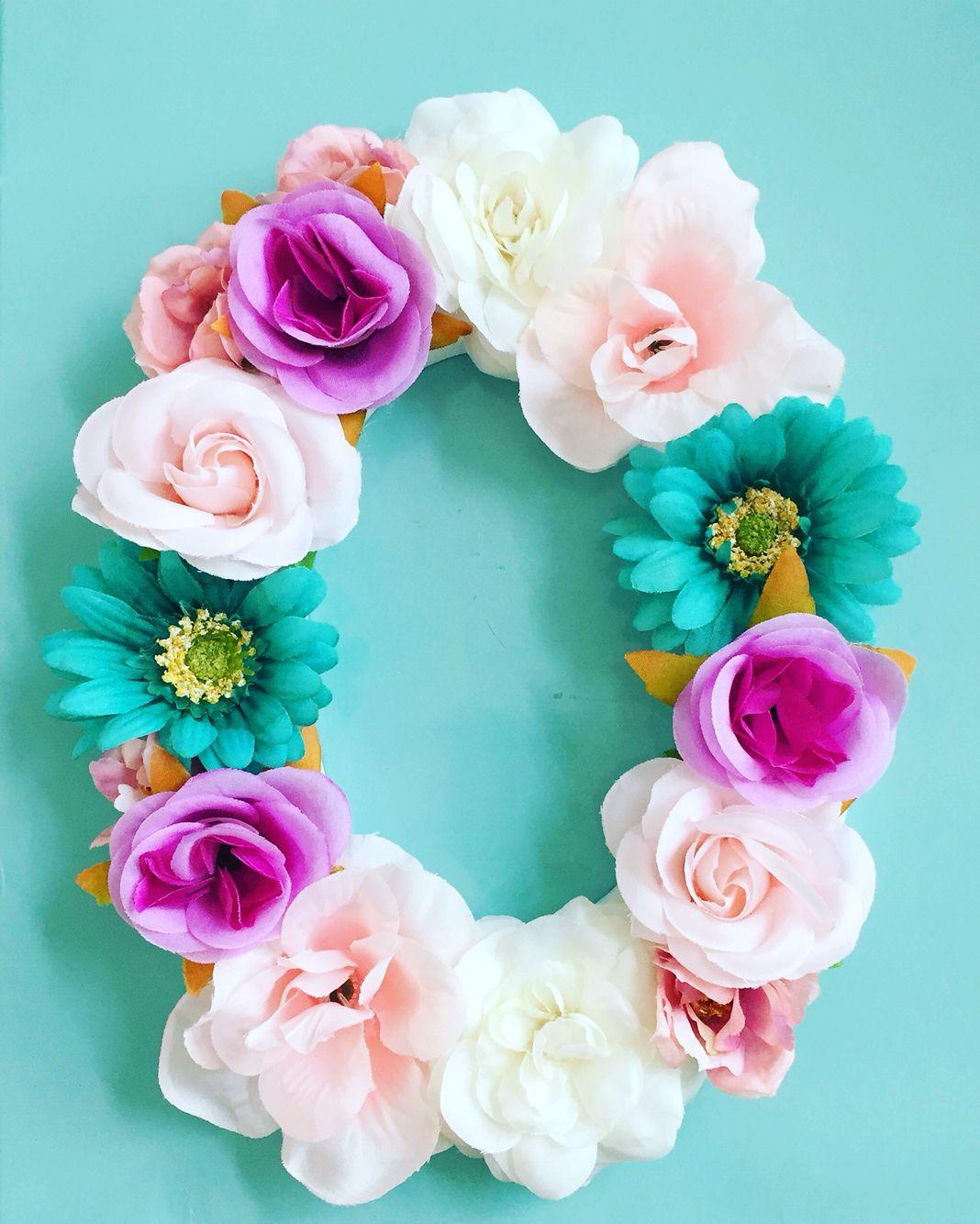 Custom Floral Letter O Floral Letters Floral Wreath Crafts