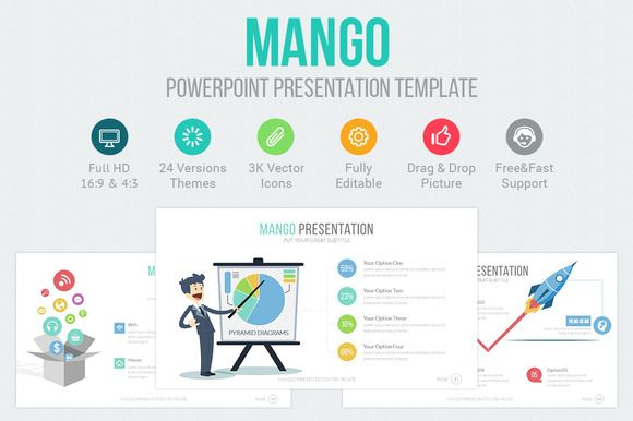 Mango Powerpoint Template by @Graphicsauthor