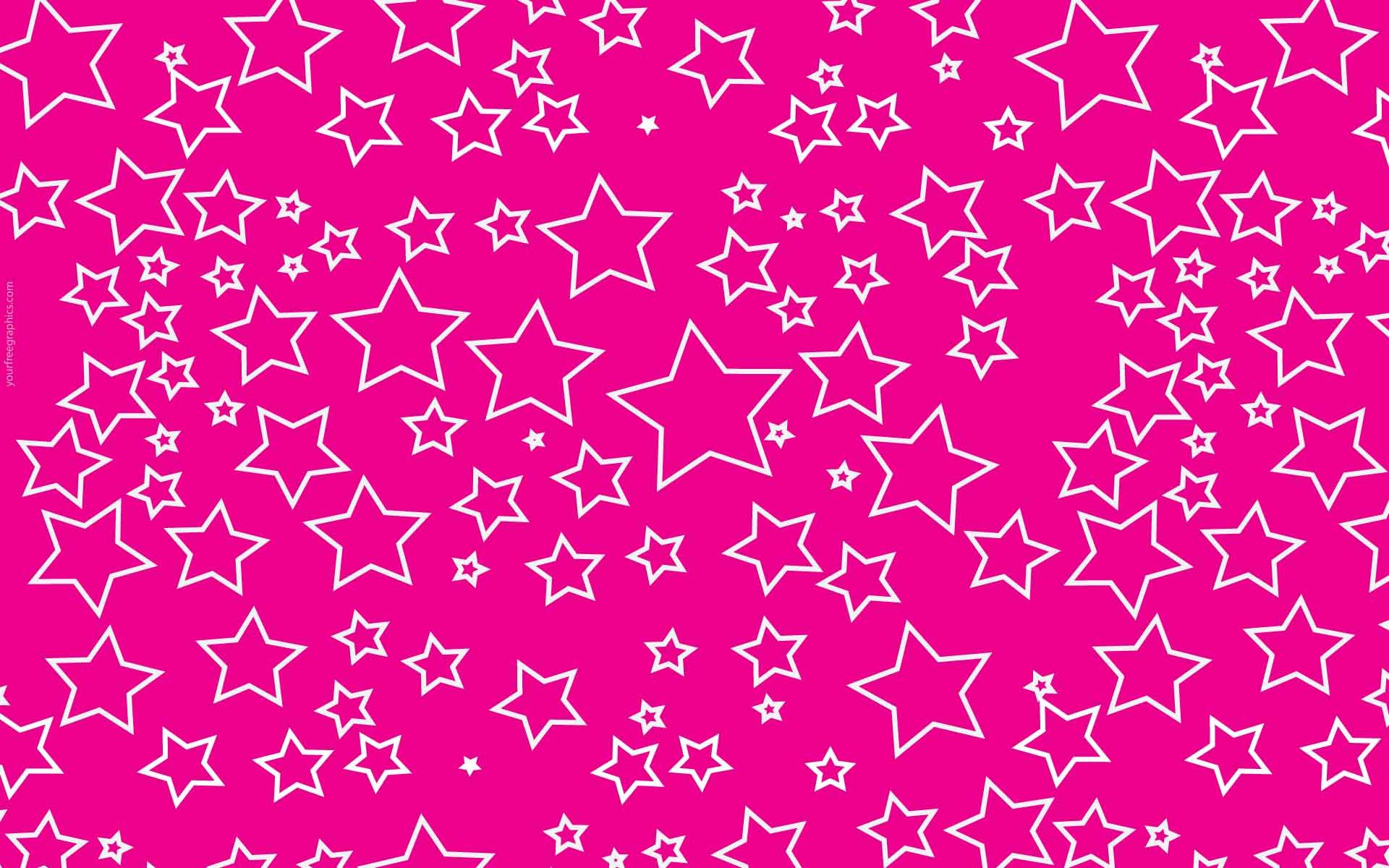 Pink With White Stars Hd Pink Wallpapers Pink Wallpaper Iphone Wallpaper Girly